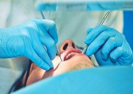 guy getting a dental treatment
