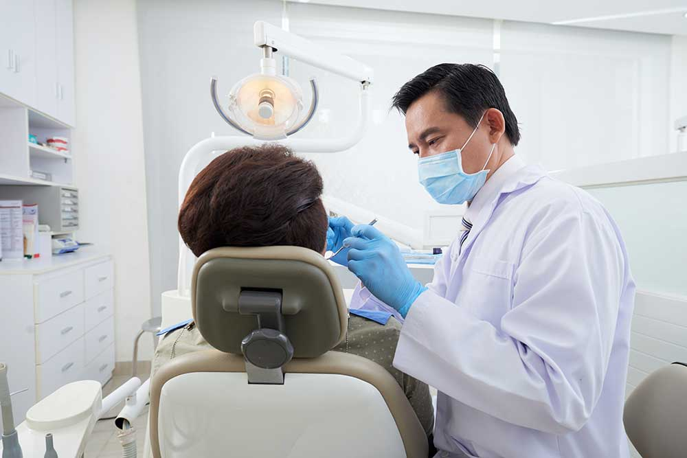 Teeth Cleaning at the dentist